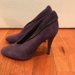 steven by steve madden purple suede booties